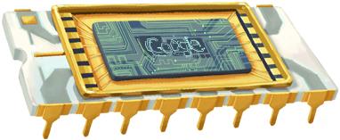 Логото на Гугъл в чест на откриването  на интегралната схема на Робърт Нойс