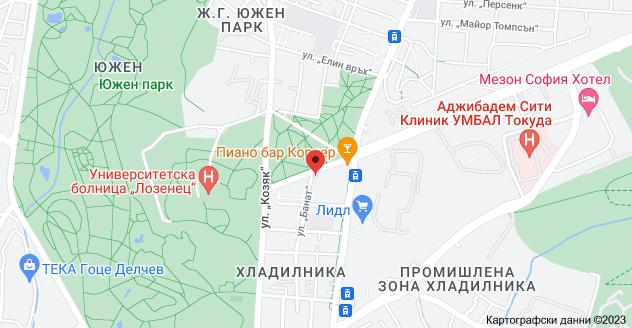 "Карта на ул. ""Банат"" 3, 2, 1407 Хладилника, София"